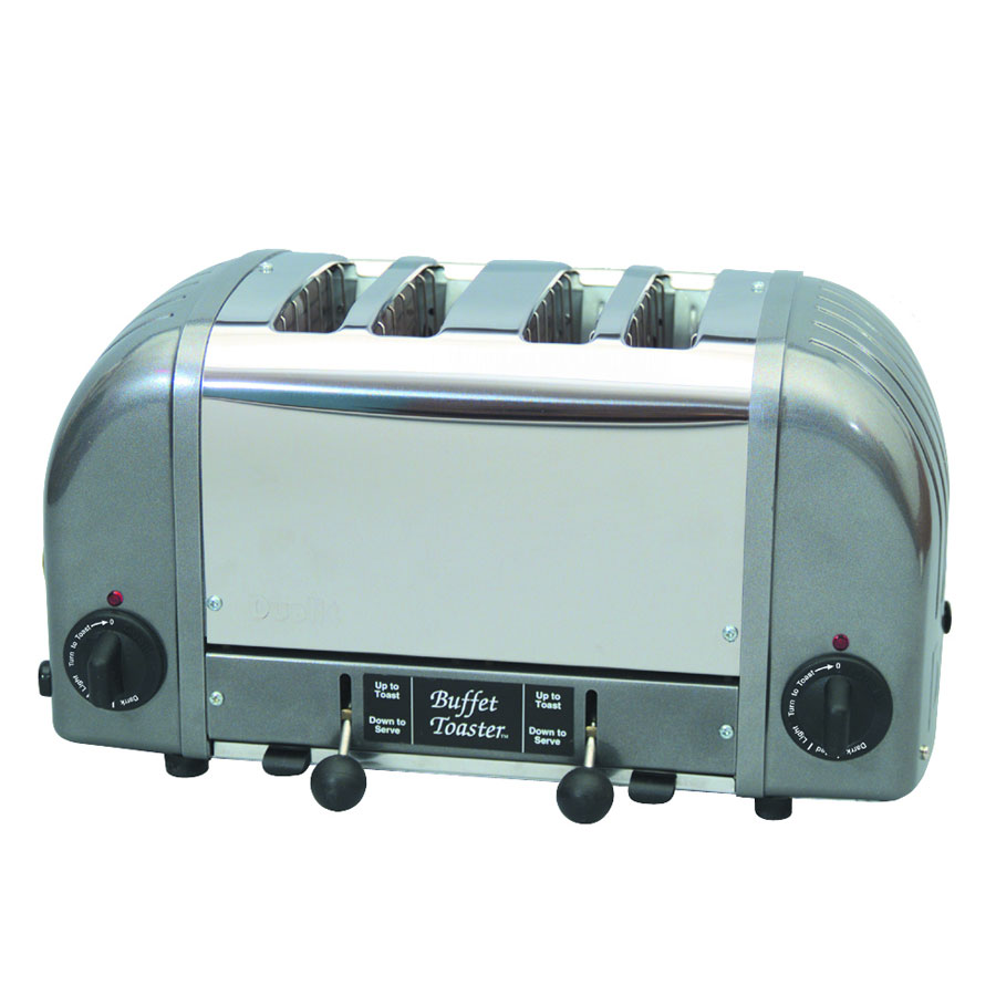 "Cadco CBF4M Toaster, 4 Slice, 1""wide Slots, Keep Warm Feature"