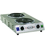 "Cadco CDR-2TFB Counter Hot Plate w/ Double Cast Iron, Burner, 8"" Tubular Element"