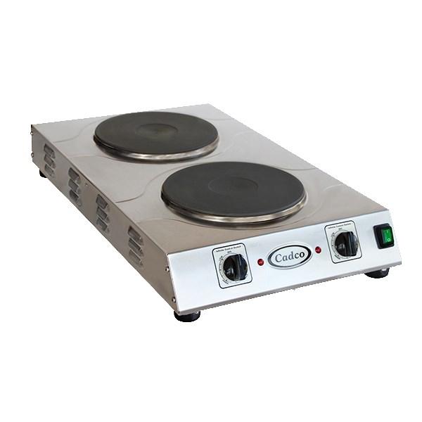 "Cadco CDR-3K 15"" Electric Hot Plate w/ (2) Burners & Infinite Controls, 220v/1ph"