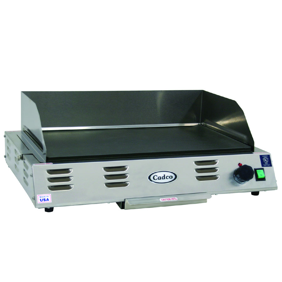 """Cadco CG-10 21"""" Electric Griddle - Thermostatic, 1"""" Steel Plate, 120v"""
