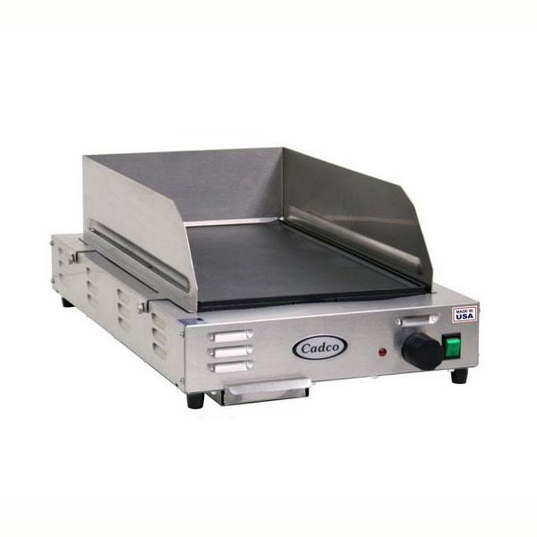 "Cadco CG-5FB 12"" Electric Griddle - Thermostatic, 1"" Steel Plate, 120v"