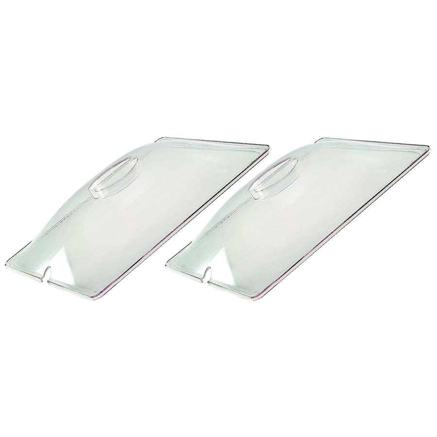Cadco CL-2 (2) Half-Size Steam Pan Cover, Polycarbonate