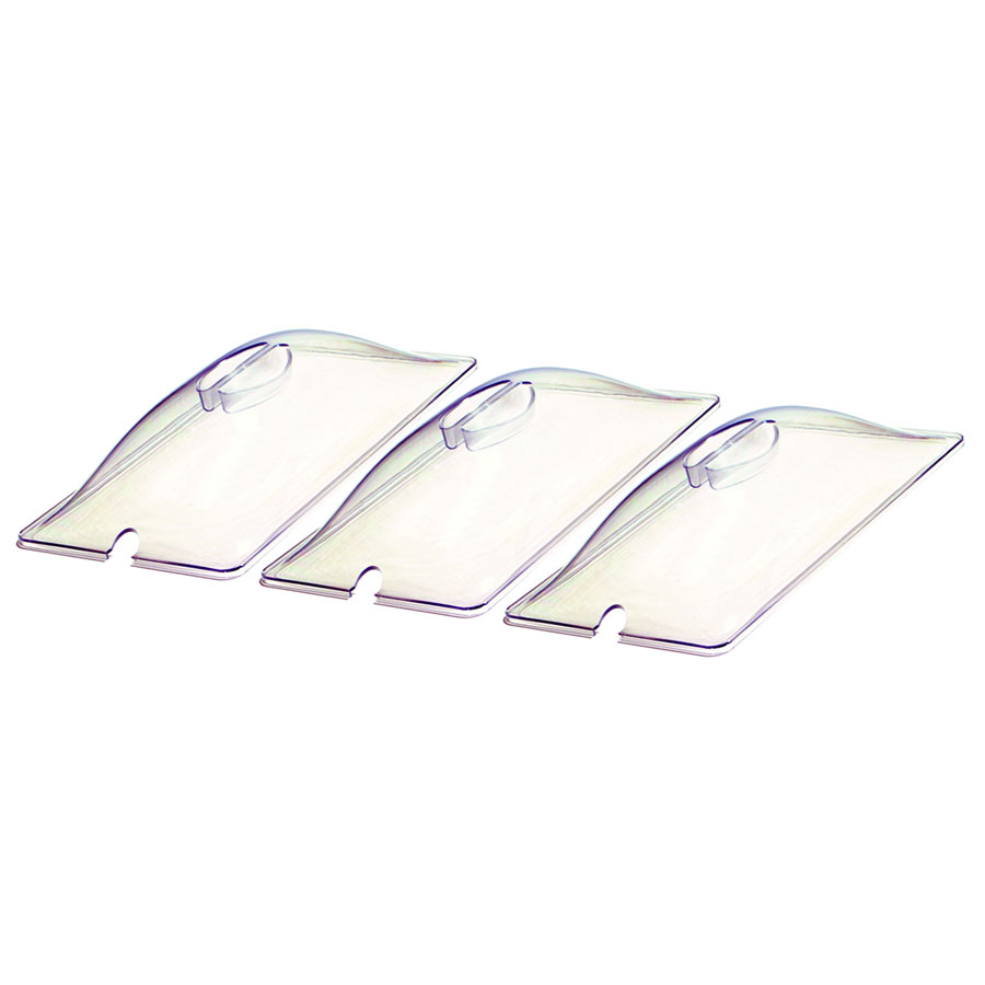 Cadco CL-3 (3) Third-Size Steam Pan Cover, Polycarbonate