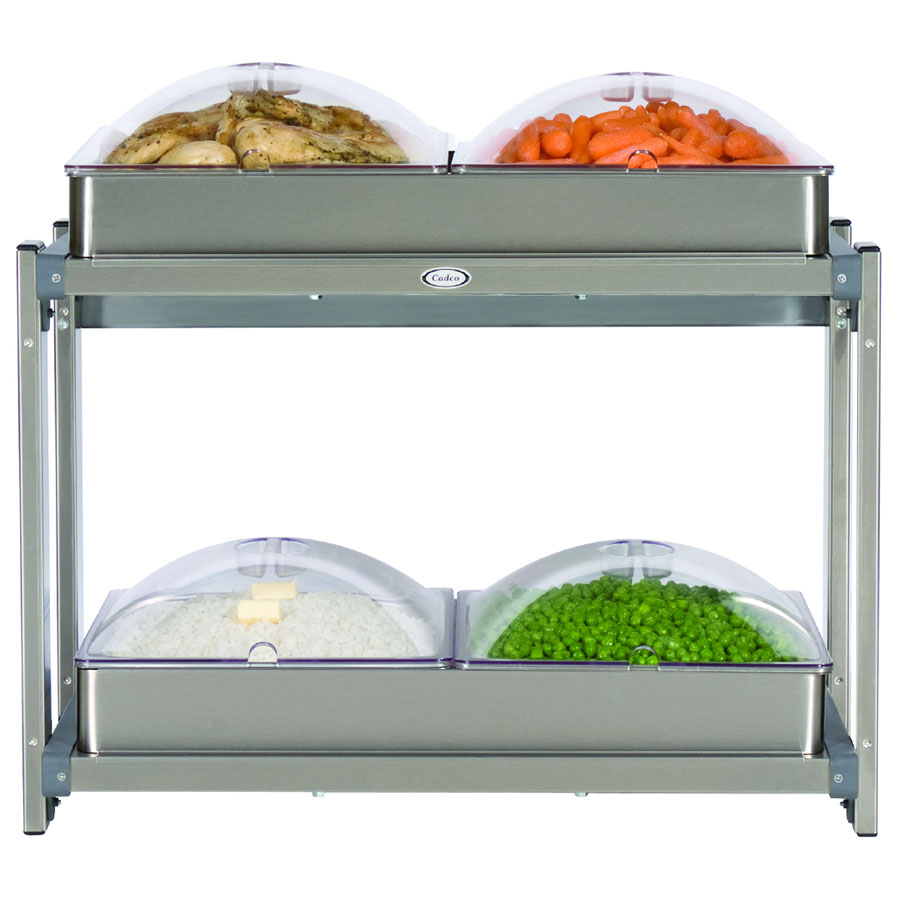 "Cadco CMLB24P Multi-Level Buffet Warmer, (2) 20-1/2 x 14""Warming Surfaces"