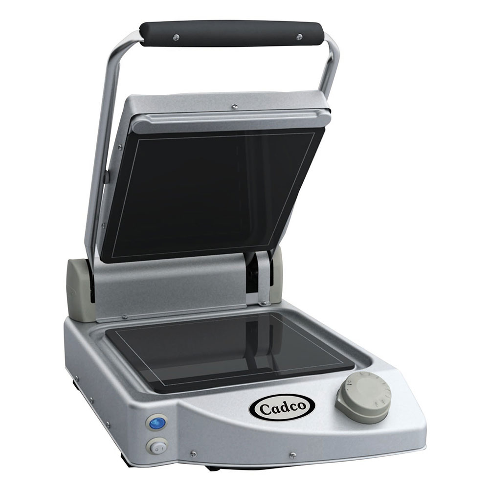 Cadco CPG-10F Commercial Panini Press w/ Ceramic Smooth P...