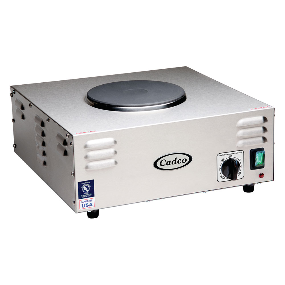 Cadco CSR-1CH 15.38 Electric Hot Plate w/ (1) Burner & In...
