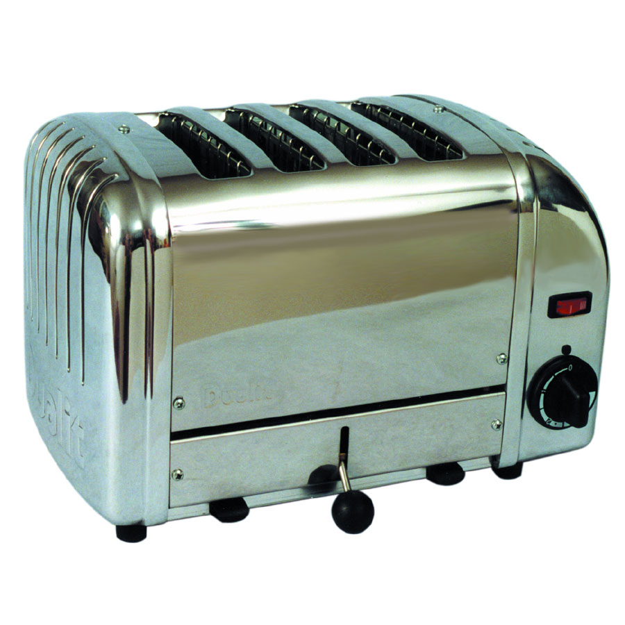 "Cadco CTS-4(208) 4-Slice Bread Toaster w/ 1"" slots, Manual Controls, 208 V"