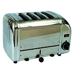 "Cadco CTS-4(220) 4-Slice Bread Toaster w/ 1"" slots, Manual Controls, 220 V"