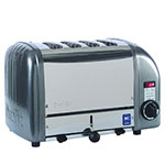 "Cadco CTW-4M(208) 4-Slice Bread Toaster w/ 1"" slots, Metallic End Panels, 208 V"