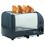 "Cadco CTW-4M(220) Slot Toaster w/ 4-Slice Capacity & 1""W Product Opening, 120v"