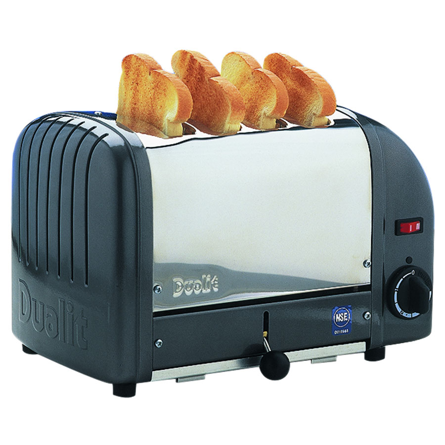 """Cadco CTW-4M(220) Slot Toaster w/ 4-Slice Capacity & 1""""W Product Opening, 120v"""