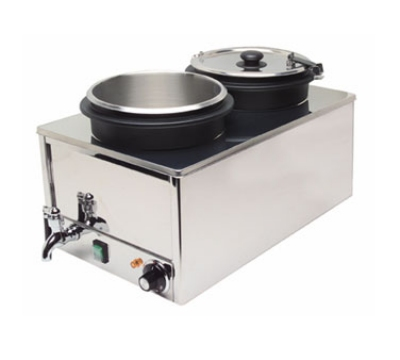Cadco DWW11 Double Well Warmer w/ 2-Stainless Steel Inserts, 120 V