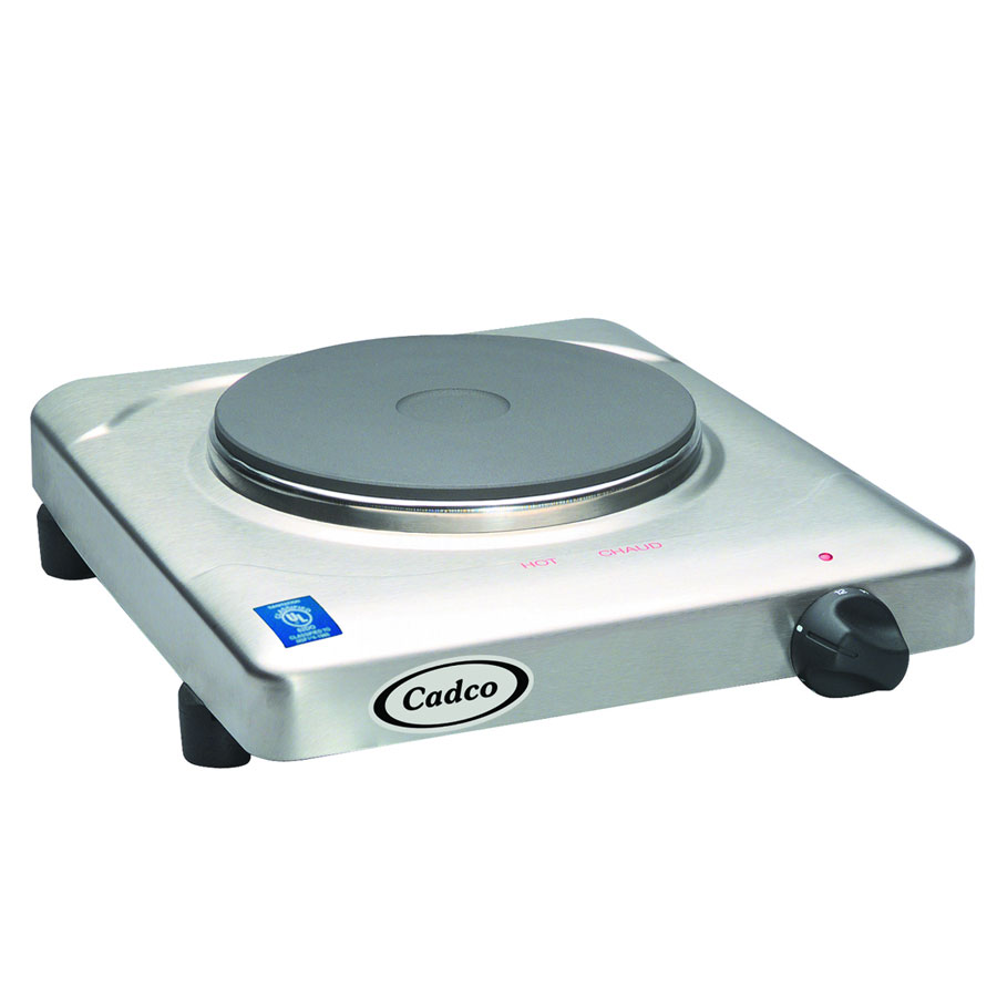 Cadco KR-S2 11.5 Electric Hotplate w/ (1) Burner & Infini...