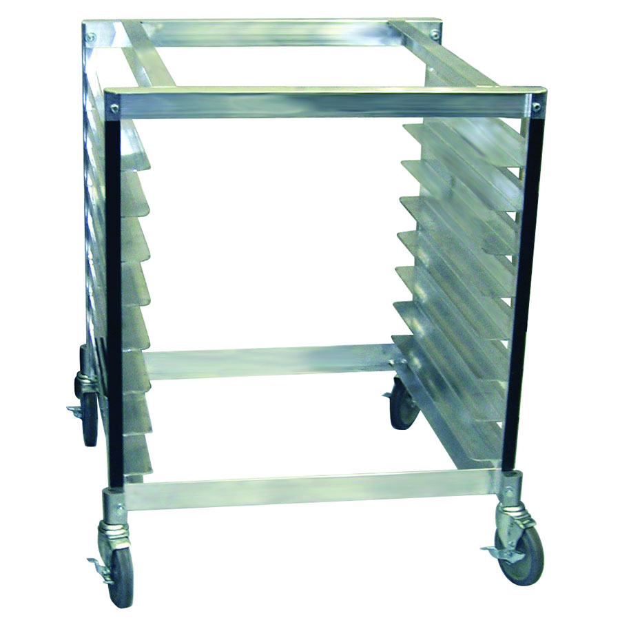 "Cadco OST-195 30"" x 28"" Mobile Equipment Stand for XAF/XAFT Convection Ovens, Pan Slides"