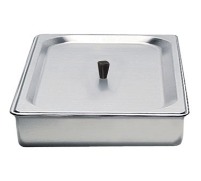 Cadco SPL2 Half-Size Steam Pan w/ Cover, Stainless