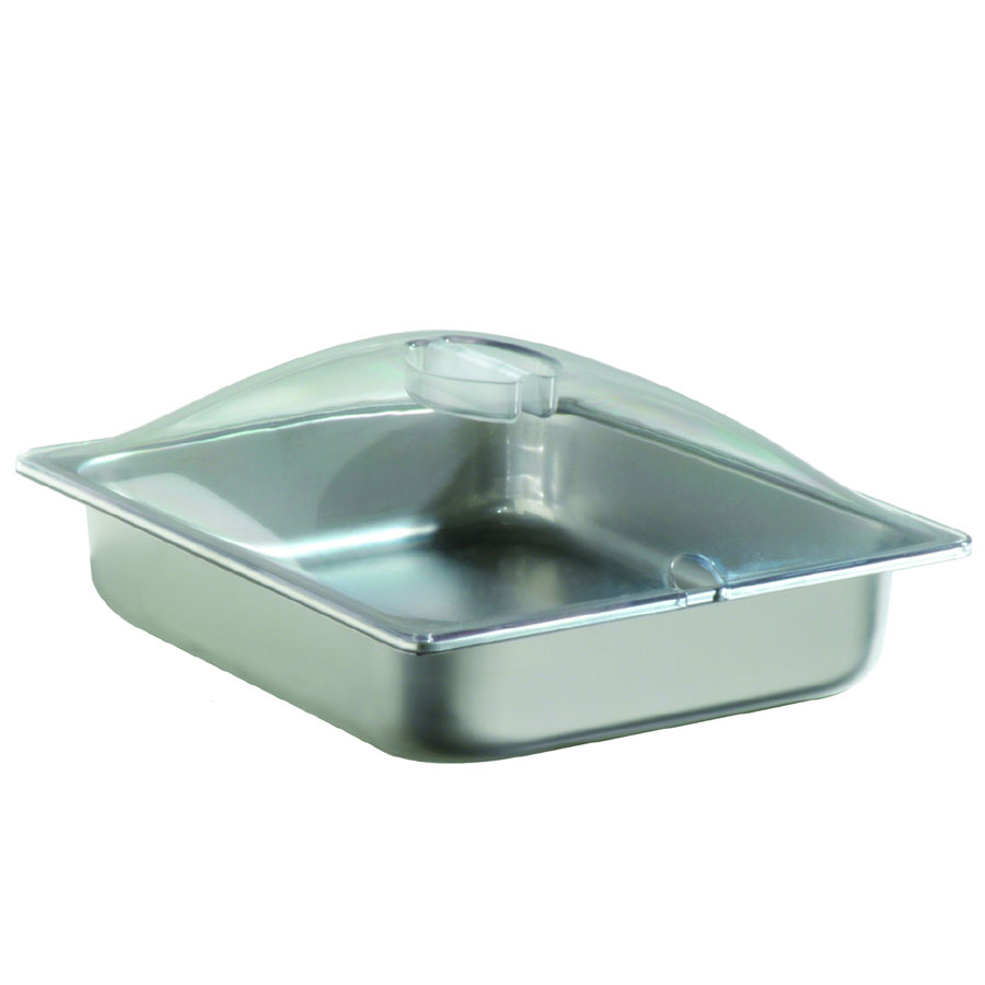 Cadco SPL2P Half-Size Steam Pan w/ Cover, Stainless