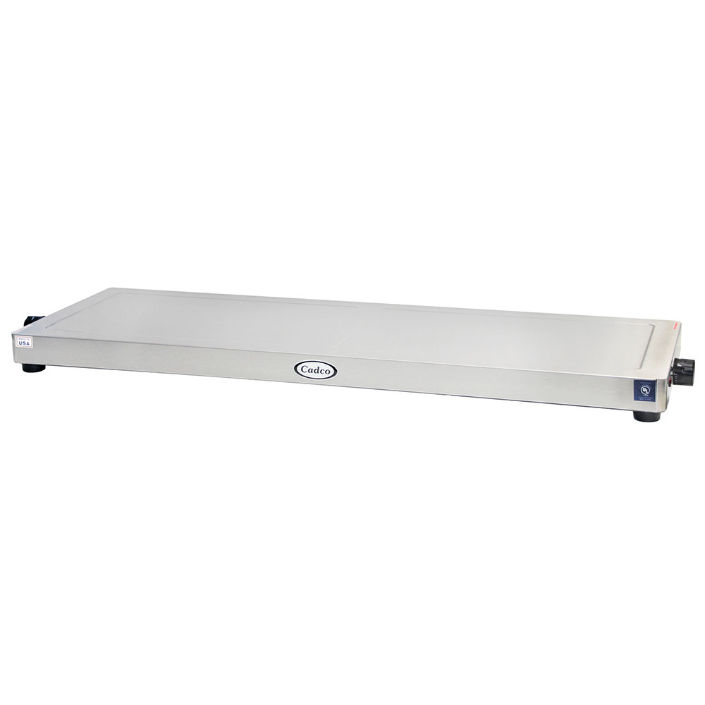 """Cadco WT-40-HD 45"""" Heated Shelf w/ Adjustable Thermostat - Stainless, 120v"""