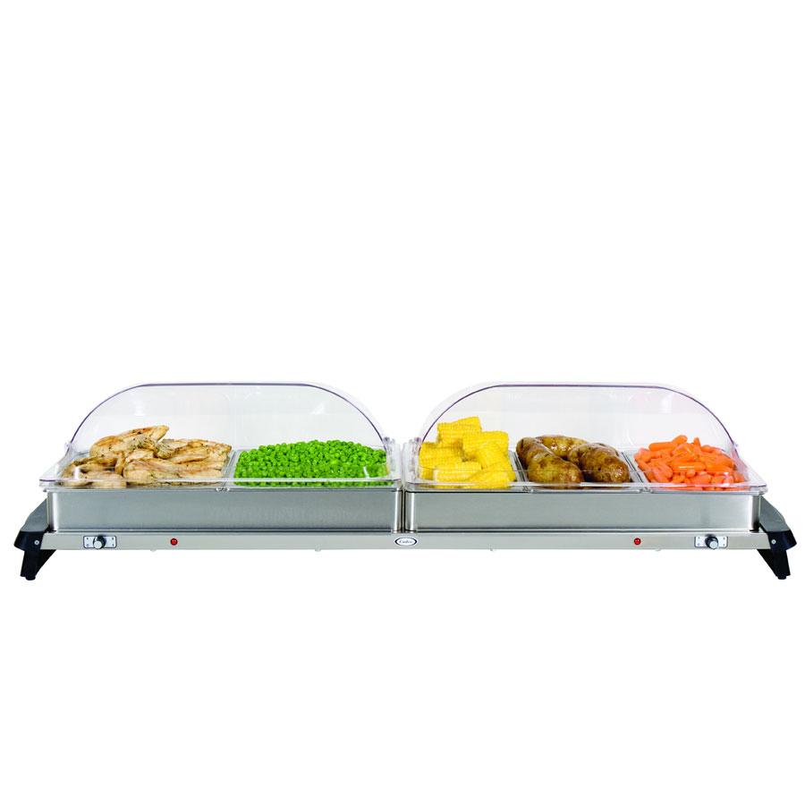Cadco WTBS5RT Countertop Grand Buffet Server w/ Warming Base & Pan, Rolltop, 120 V