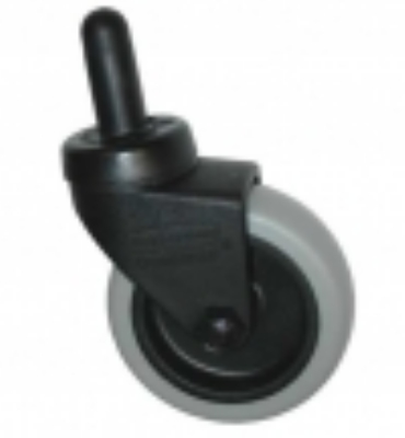 Special Made Goods & Services 7570L2 3-in Plastic Caster w/ Metal Axle