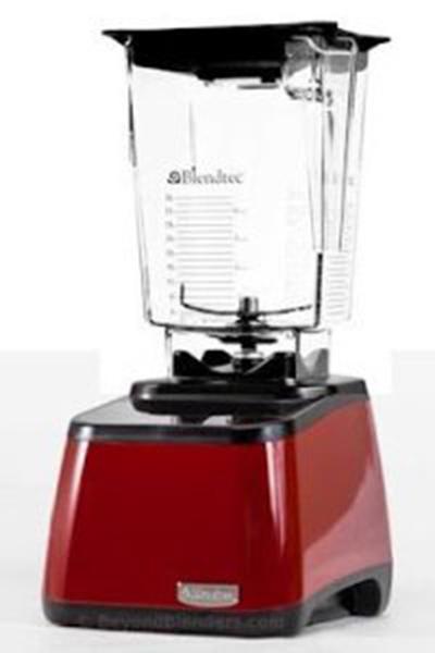 Blendtec 1003257 Designer Series Motor Base w/ WildSide Jar, Gripper Lid & Recipe Book, Red