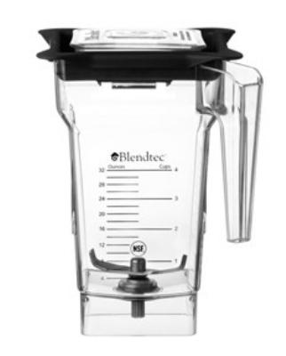 Blendtec 4060950 2-qt FourSide Jar Only, BPA-Free Co-Polyester, Clear