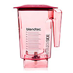 Blendtec WILDSIDERED-H 3-qt WildSide Jar w/ Hard Lid & Wingtip Blade, Ounce & Cup Markings, Red