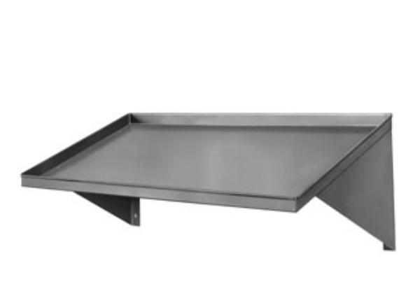 Cma 12620.00 42 in Slanted Rack Shelf, Stainless Steel, Wall Mounted