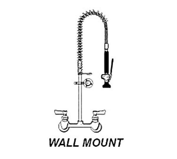 CMA 20411.00 Pre-Rinse, 8 in, Wall Mount