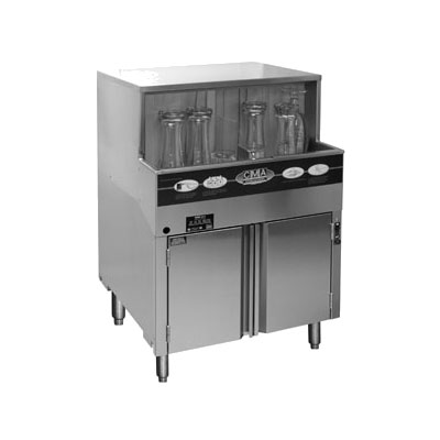 CMA GW-100 Low Temp Rotary Undercounter Dishwasher - (1000) Glasses/hr, 120v