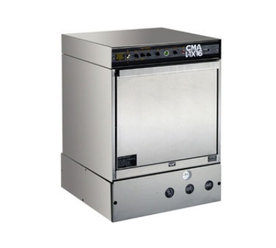 CMA L-1X16 W/HTR Undercounter Dishwasher w/ Sustainer Heater, Low Temp, 30 Racks/Hr