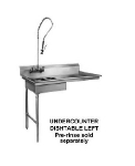 "CMA SL-U 48"" Dishtable for Undercounter Type Dishwasher, Sink on Left"