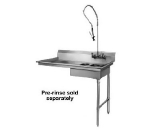 "CMA SR-U 48"" Dishtable for Undercounter Type Dishwasher, Sink on Right"