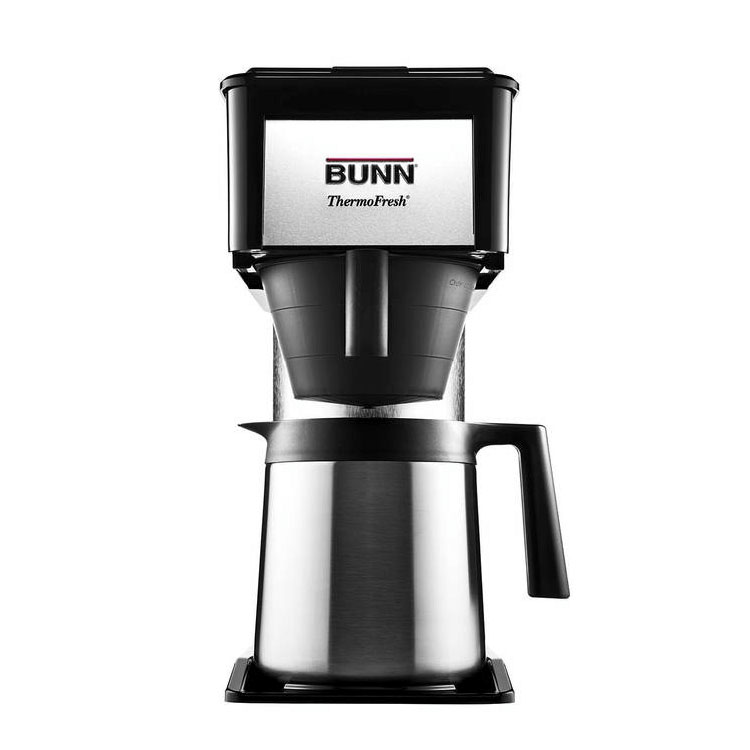Bunn Home 38200.0016 BTX-B ThermoFresh Coffee Brewer, 10 Cup, SS Carafe, Black/Stainless