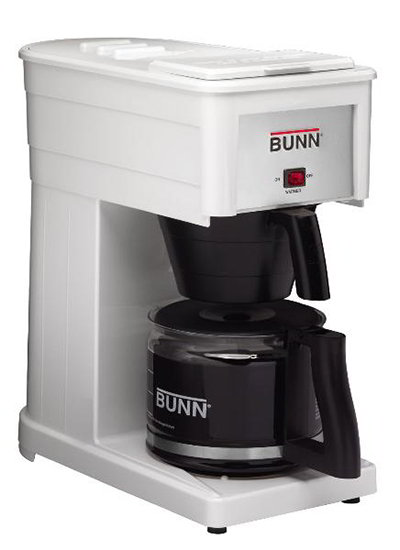 BUNN Home 38300.0033 GRX Basic Home Brewer, 10 Cup, Pourover, Decanter Included, White