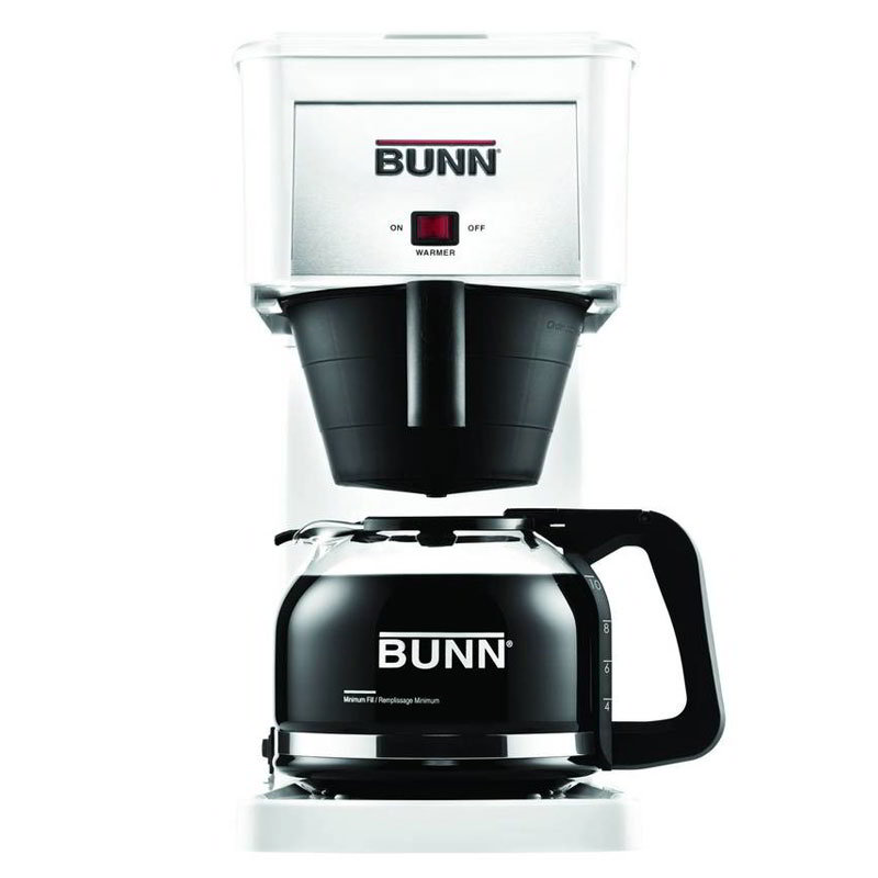 Bunn Home 38300.0061 10-Cup Velocity Brew GR Coffee Maker w/ Carafe, White