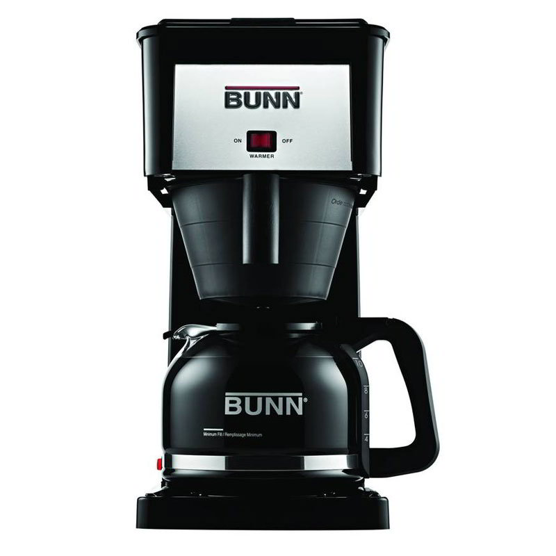 Bunn-o-matic Residential 38300.0064 GRX Basic Home Brewer, 10 Cup, Pourover, Black