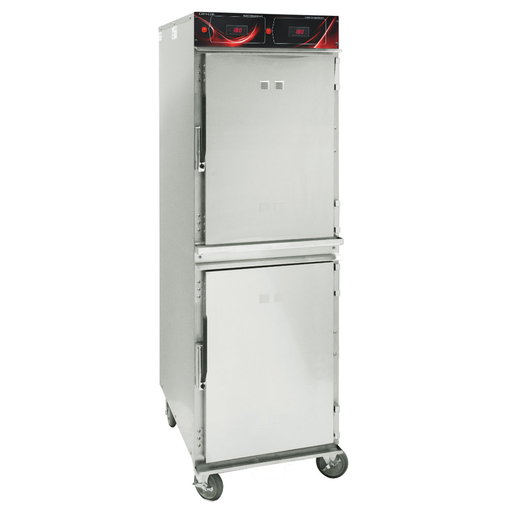 Cres Cor 1000-HH-SS-2DX Full Height Mobile Heated Cabinet w/ (16) Pan Capacity, 120v