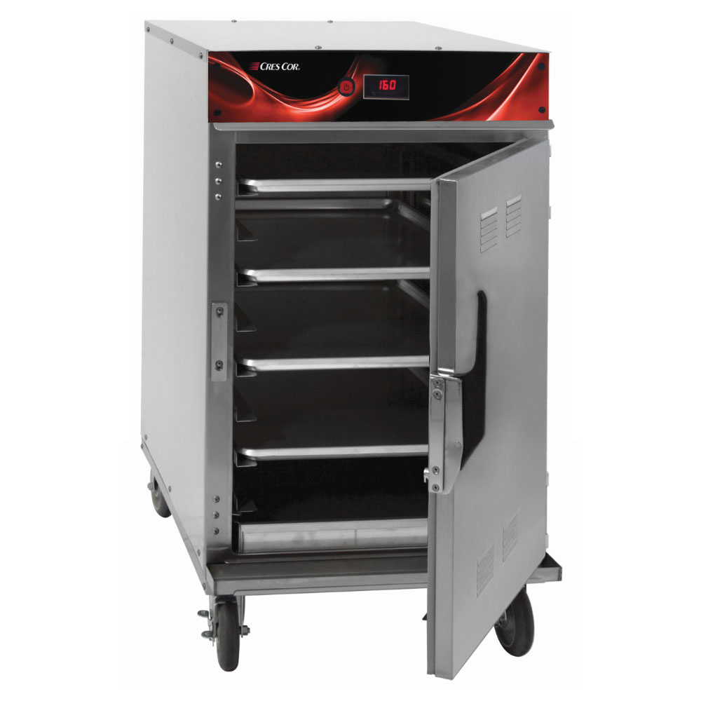 Cres Cor 1000-HH-SS-SPLIT-DE 1/2-Height Mobile Heated Cabinet w/ (8) Pan Capacity, 120v