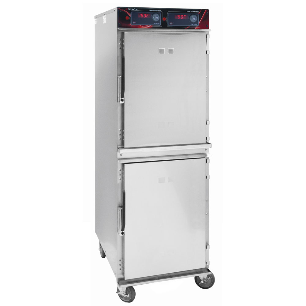 Cres Cor 1200-HH-SS-2DX Full Height Mobile Heated Cabinet w/ (16) Pan Capacity, 120v
