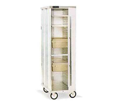 Cres Cor 150-1838-DZ Mobile Enclosed Correctional Cabinet w/ 38-Pan Capacity, Full Height, Aluminum
