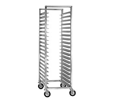 Cres Cor 207-1524 Mobile Utility Rack w/ 24-Pan Capacity, Full Height, Aluminum