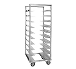 Cres Cor 207-2410A Mobile Tray Rack w/ 10-Slide for Oval Tray, 1-Compartment, Full Height, Aluminum