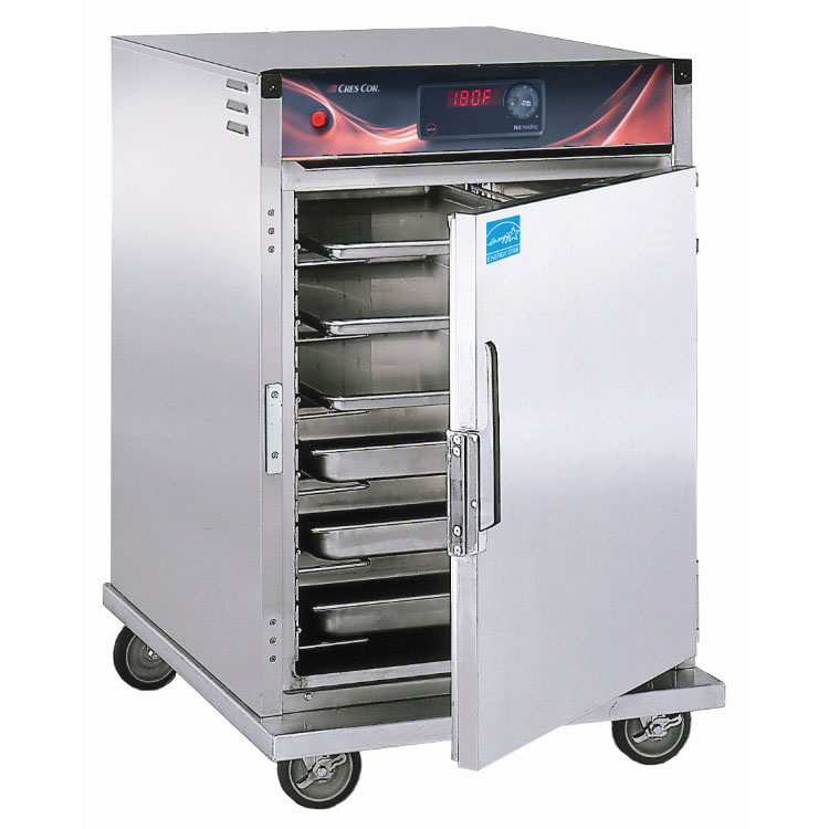 Cres Cor H-137-SUA-6D 1/2-Height Mobile Heated Cabinet w/ (6) Pan Capacity, 120v