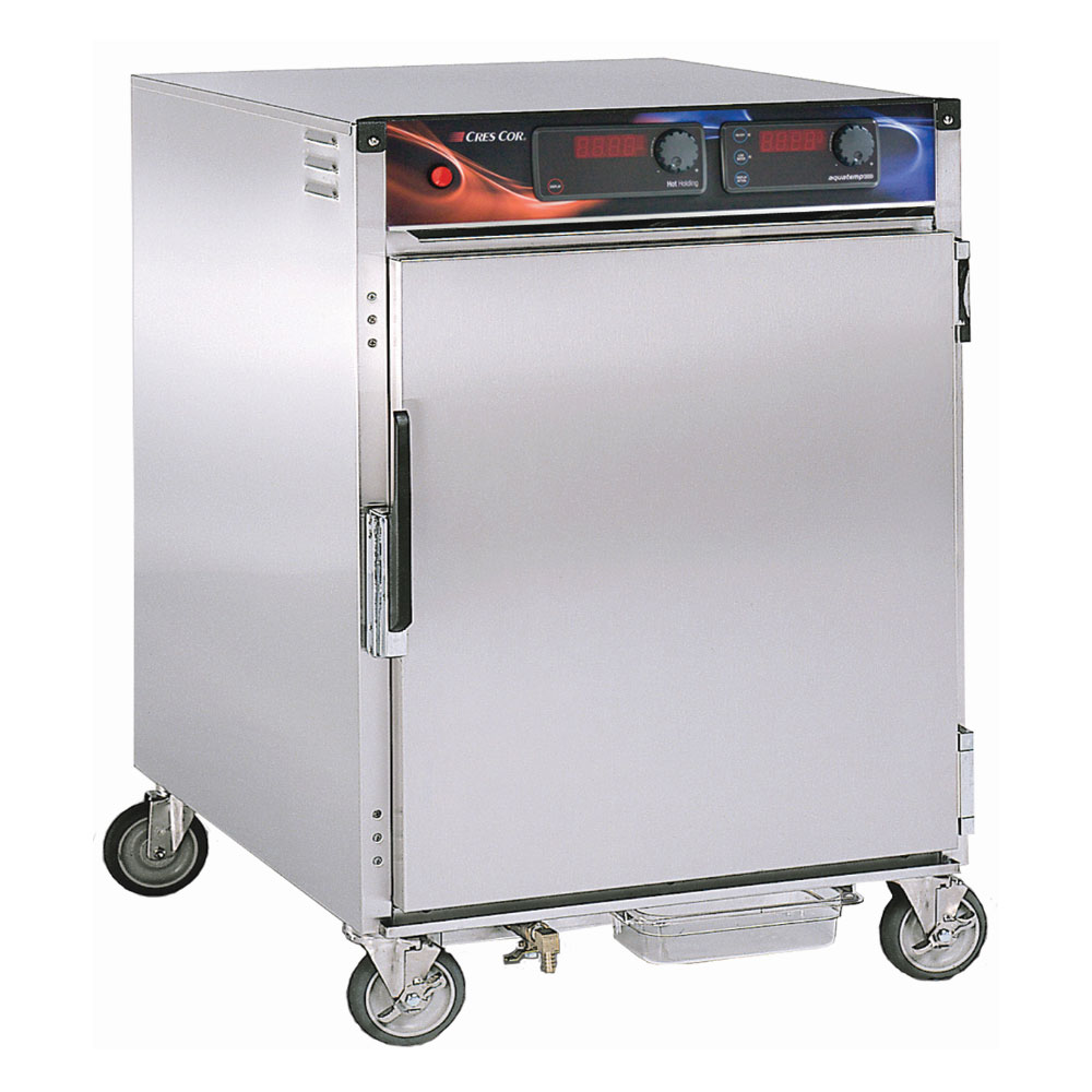 Cres Cor H-137-WSUA-6D 1/2-Height Mobile Heated Cabinet w/ (6) Pan Capacity, 120v