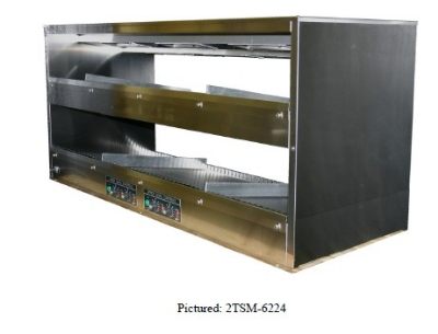 B.K.I. 2TSM-6224L 2-Tier Sandwich Warmer w/ Slanted Back, Left-Hand Cord, 62 x 24-in, 120/208 V