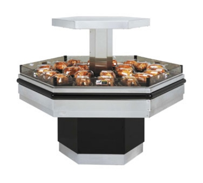 B.K.I. BHI-5 240 Self-Serve Hot Deli Island Display w/ 34-Chicken Capacity, 1-Shelf, 240/1 V