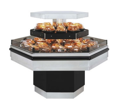 B.K.I. BHI-5T 240 Self-Serve Hot Deli Island Display w/ 42-Chicken Capacity, 1-Shelf, 240/1 V