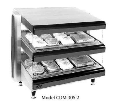 B.K.I. CDM-30S-2 30-in Self-Serve Merchandiser w/ 2-Slanted Deck & 10-Divider Rods, 120 V