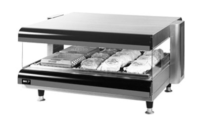 "B.K.I. CDM-36H-1 36"" Self-Serve Merchandiser w/ 1-Deck & 6-Divider Rods, Tempered Glass 120 V"