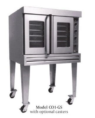 B.K.I. CO1-GS Full Size Gas Convection Oven - LP